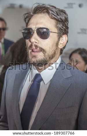 New York, NY, USA - April 24, 2014: James Franco attends the 'Palo Alto' Premiere during the 2014 Tribeca Film Festival at the SVA Theater in New York City