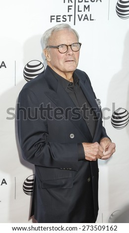 New York, NY, USA - April 15, 2015: Journalist Tom Brokaw attends the world premiere of Live From New York during the 2015 Tribeca Film Festival at The Beacon Theatre, Manhattan - stock photo