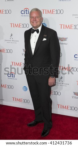 New York, NY USA - April 26, 2016: Lee Berger attends Time 100 gala at Jazz at Lincoln Center - stock photo