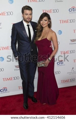 New York, NY USA - April 26, 2016: Pete Cashmore and Kimmy Huynh attend Time 100 gala at Jazz at Lincoln Center - stock photo