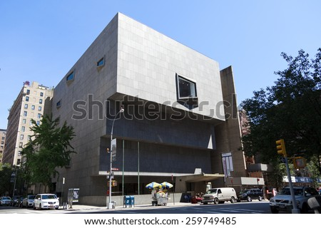 New York, NY, USA -  June 15, 2014: The Whitney museum of American art: The Whitney Museum of American Art is a New York City art museum with a focus on 20th- and 21st-century American art.