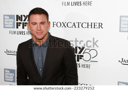 "NEW YORK-OCT 10: Actor Channing Tatum attends the ""Foxcatcher"" premiere at the 52nd New York Film Festival at Alice Tully Hall on October 10, 2014 in New York City. - stock photo"