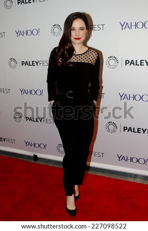 "NEW YORK-OCT 18: Actress Caroline Dhavernas attends PaleyFest NY 2014 for ""Hannibal"" at The Paley Center for Media on October 18, 2014 in New York City."