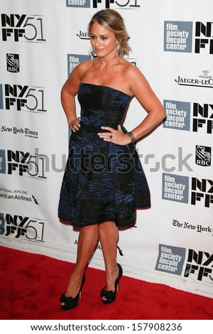 NEW YORK-OCT 5: Actress Christine Taylor attends 'The Secret Life Of Walter Mitty' premiere at 51st New York Film Festival at Alice Tully Hall at Lincoln Center on October 5, 2013 in New York City.