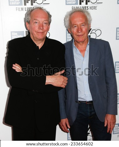 NEW YORK-OCT 5: Director Jean-Pierre Dardenne (L) & producer Luc Dardenne attend the 'Two Days, One Night' premiere at New York Film Festival at Alice Tully Hall on October 5, 2014 in New York City. - stock photo