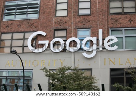 NEW YORK OCT 22: Google office near Chelsea market in New York on 22 Octorber 2016. Google is one of top search engine in the world which first  start its business in California.