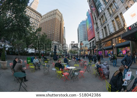 NEW YORK - OCT 27: Herald Square at Macy's Department Store, Herald Square on Oct 27, 2016 in New York, USA.