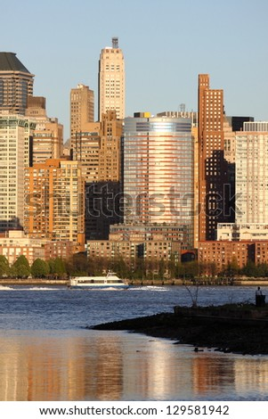NEW YORK - OCT 31: Quiet moment in Manhattan, pictured on October 31, 2012, New York, NY. Manhattan was hit by Hurricane Sandy on October 29, 2012. Millions of residents were without electricity. - stock photo