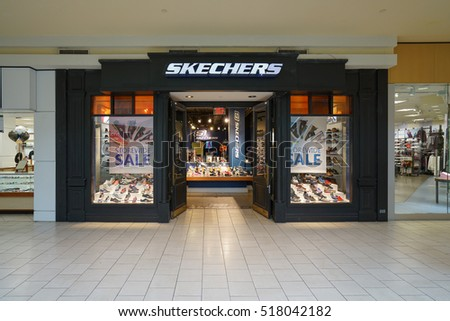 NEW YORK - OCT 22: Skechers shoe shop at Queen Center on Oct 22, 2016 in New York, USA.
