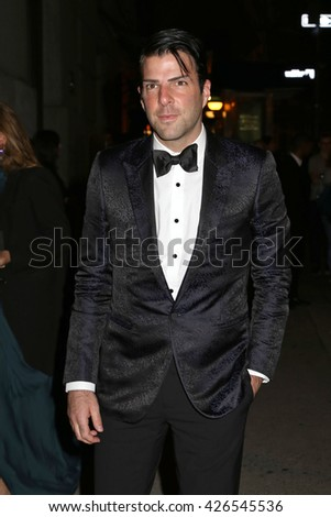 NEW YORK - OCT 22, 2015: Zachary Quinto attends the FGI Night Of Stars event at Cipriani on October 22, 2015, in New York City.