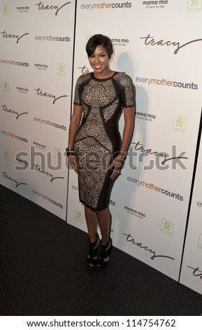 NEW YORK - OCTOBER 05: Alicia Quarles attends launch of The Tracy Anderson Method Pregnancy Project at Le Bain At The Standard Hotel on October 05, 2012 in New York City. - stock photo
