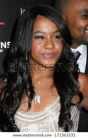 """NEW YORK - OCTOBER 22, 2012: Bobbi Kristina Brown attends the premiere of """"The Houstons: On Our Own"""" at the Tribeca Grand on October 22, 2012 in New York City. - stock photo"""