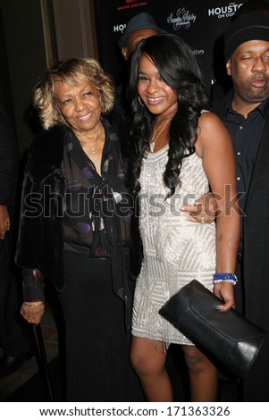 """NEW YORK - OCTOBER 22, 2012: Cissy Houston and Bobbi Kristina Brown attend the premiere of """"The Houstons: On Our Own"""" at the Tribeca Grand on October 22, 2012 in New York City. - stock photo"""