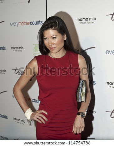 NEW YORK - OCTOBER 05: Monika Chiang attends launch of The Tracy Anderson Method Pregnancy Project at Le Bain At The Standard Hotel on October 05, 2012 in New York City. - stock photo