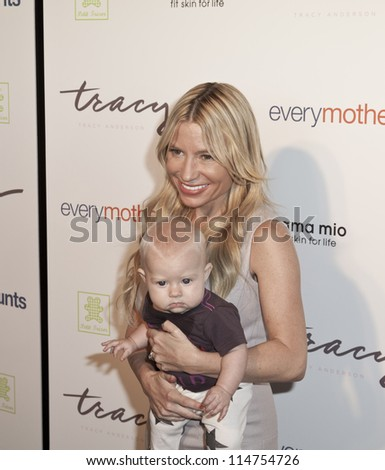 NEW YORK - OCTOBER 05: Penelope Mogol and Tracy Anderson attend The Tracy Anderson Method Pregnancy Project at Le Bain At The Standard Hotel on October 05, 2012 in New York City. - stock photo