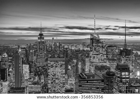new York panorama - stock photo