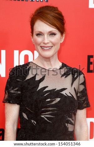 """NEW YORK-SEP 12: Julianne Moore attends the """"Don Jon"""" New York premiere at the SVA Theater on September 12, 2013 in New York City.  - stock photo"""