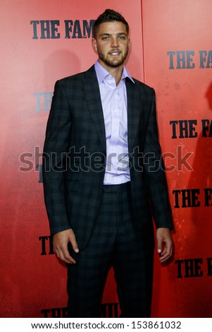 "NEW YORK-SEP 10: NBA player Chandler Parsons attends ""The Family"" world premiere at AMC Lincoln Square Theater on September 10, 2013 in New York City.   - stock photo"