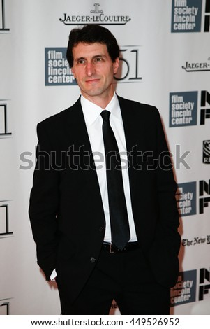 """NEW YORK-SEP 27: Screenwriter Billy Ray attends opening night gala of the 2013 New York Film Festival at the premiere of """"Captain Phillips"""" at Alice Tully Hall on September 27, 2013 in New York City. - stock photo"""