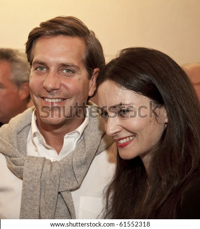 NEW YORK - SEPTEMBER 21: Brook Magmeghi and Christian Leone attend the opening of Tamsen Z luxury jewelry store on September 21, 2010 in New York City.