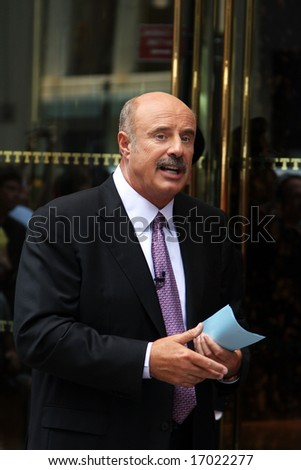 "NEW YORK - SEPTEMBER 3: Dr. Phil in New York September 3, 2008, recording a new episode of ""The Biggest Loser"" weight loss program."