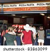 NEW YORK - SEPTEMBER 01: Food court with pizza at US Open at USTA Billie Jean King National Tennis Center on September 01, 2011 in New York City. - stock photo