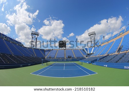 NEW YORK - SEPTEMBER 7:  Luis Armstrong Stadium at the Billie Jean King National Tennis Center during US Open 2014 tournament in New York on September 7, 2014 in New York