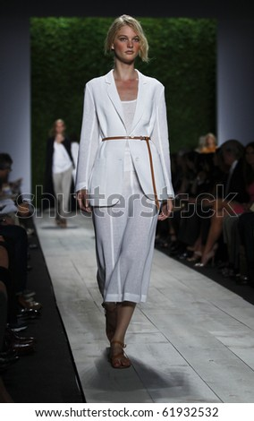 NEW YORK - SEPTEMBER 15: Model walks the runway for Michael Kors Collection on Spring/Summer 2011 during Mercedes-Benz Fashion Week on September 15, 2010 in New York