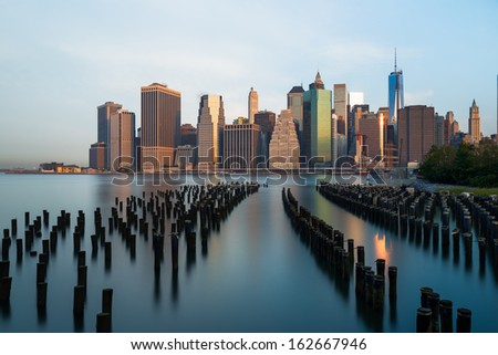 New York skyline - stock photo