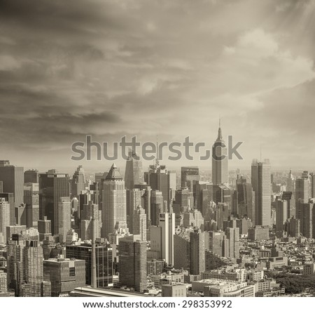 New York skyline.