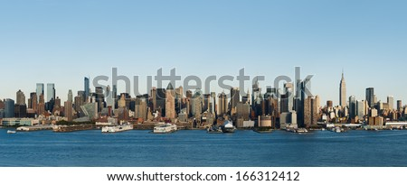 New York skyline during the day - stock photo