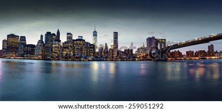 New York skyline, view from Brooklyn