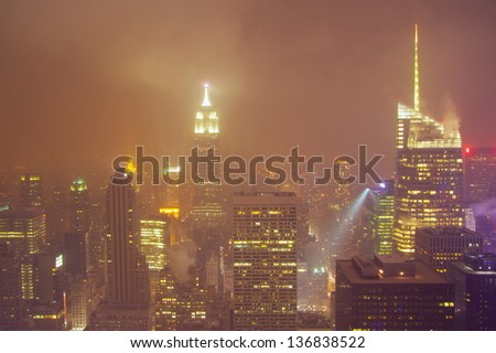 New York snowstorm - stock photo