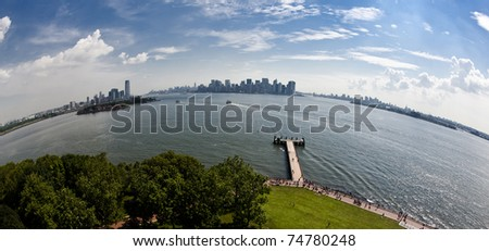 New York Statue of Liberty - stock photo