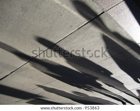 New York Street People Shadows Silhouettes