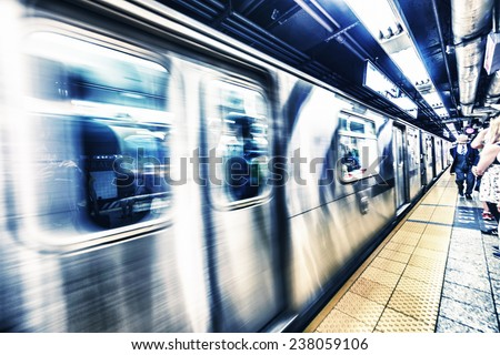New York Subway. - stock photo