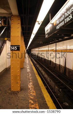 New York Subway Station - 2 - stock photo