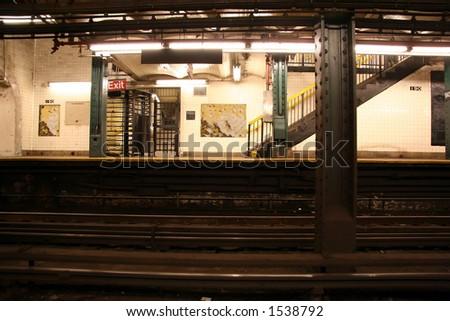 New York Subway Station - 4 - stock photo