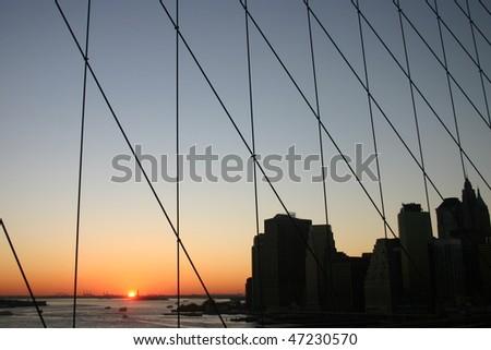 New York Sunset - stock photo