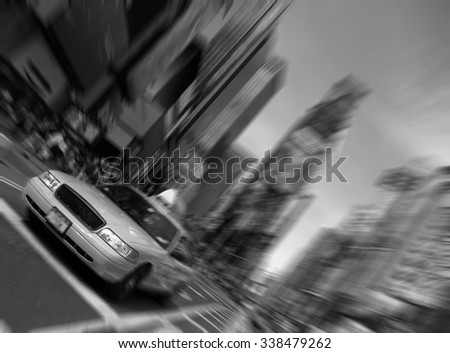 new york times square taxi - stock photo