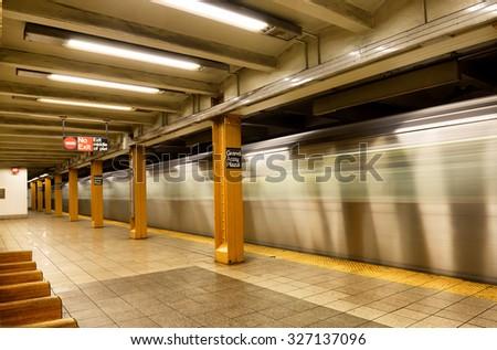 New York underground - stock photo
