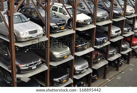 NEW YORK UNITED STATES - FEBRUARY 13 Many cars are parked in multi level & ldphotorou0027s Portfolio on Shutterstock azcodes.com