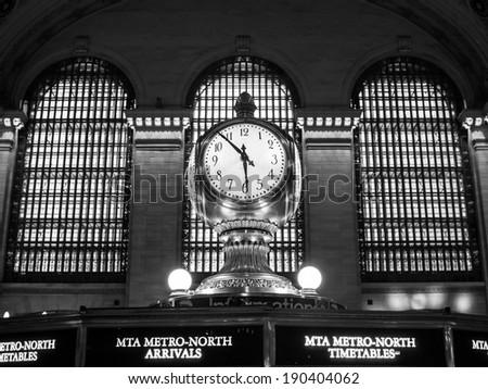 NEW YORK, USA - 2014 APRIL 26: Clock in Grand Central Terminal - stock photo