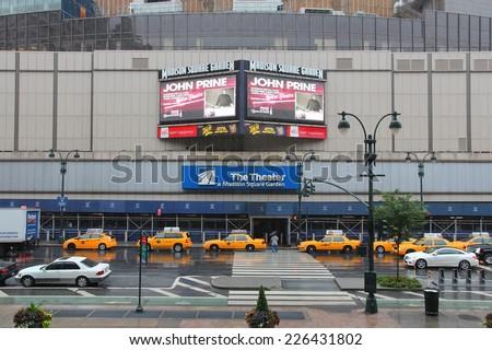 Superb NEW YORK, USA   JULY 1, 2013: People Walk By Rainy Madison Square