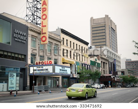 NEW YORK,USA - JUNE 16,2015 : historic Apollo Theater in Harlem, New York City - stock photo