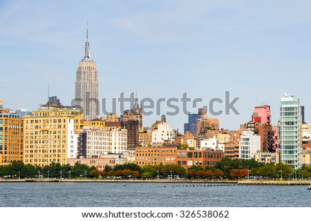 NEW YORK, USA - SEP 25, 2015: Empire State building, New York City, USA. New York is the most populous city in the United States