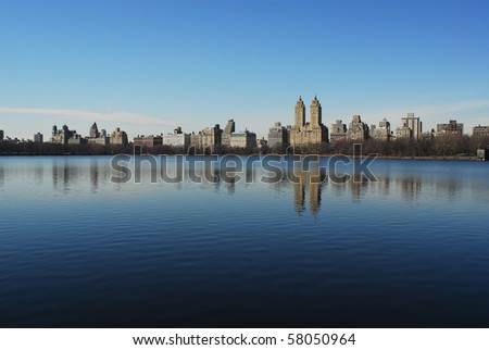 New York view from Central Park - stock photo