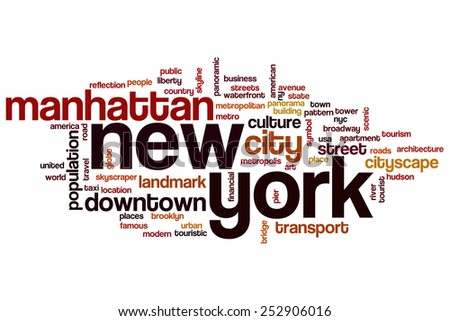 New York word cloud concept - stock photo