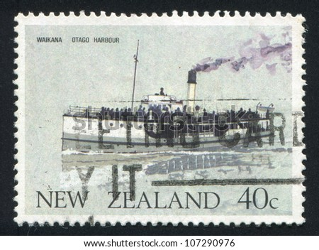 NEW ZEALAND - CIRCA 1984: A stamp printed by New Zealand, shows Waikana, Otago Harbor, circa 1984