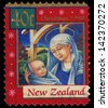 NEW ZEALAND - CIRCA 1998: A stamp printed in New Zealand, is dedicated to Christmas, depicts Madonna and Child, circa 1998 - stock photo